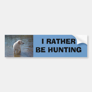 Labrador Retriever Bumper Sticker At The Lake