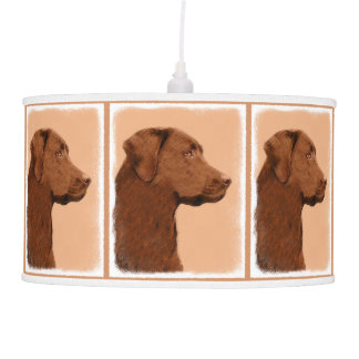 Labrador Retriever (Chocolate) Pendant Lamp