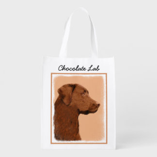 Labrador Retriever (Chocolate) Reusable Grocery Bag