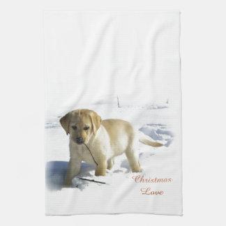 Labrador Retriever Christmas Kitchen Towel