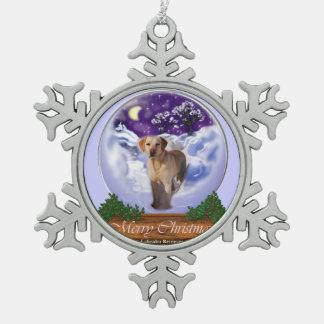 Labrador Retriever Christmas Snowflake Pewter Christmas Ornament