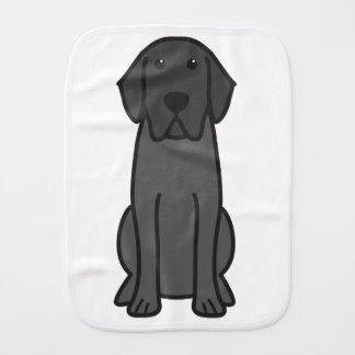 Labrador Retriever Dog Cartoon Baby Burp Cloths