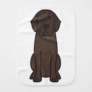 Labrador Retriever Dog Cartoon Burp Cloth