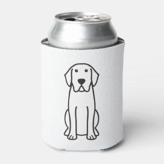 Labrador Retriever Dog Cartoon Can Cooler