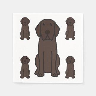 Labrador Retriever Dog Cartoon Disposable Napkin