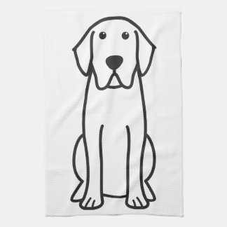Labrador Retriever Dog Cartoon Kitchen Towel