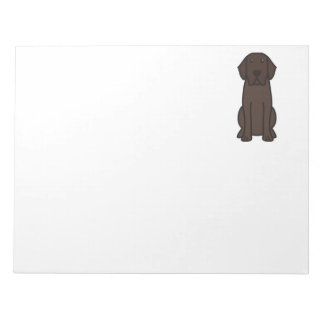 Labrador Retriever Dog Cartoon Notepad