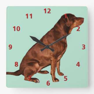 Labrador Retriever Dog Clock Customizable