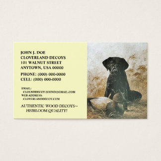 LABRADOR RETRIEVER DOG & DECOY ~BUSINESS CARDS! BUSINESS CARD