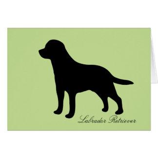 Labrador Retriever dog silhouette greeting card