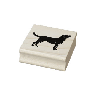 Labrador Retriever Dog Silhouette Rubber Stamp