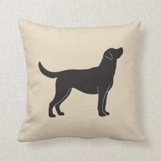 Labrador Retriever Dog Silhouette Throw PIllow