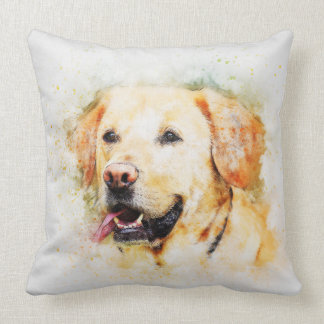 Labrador Retriever Dog Watercolour Throw Pillow