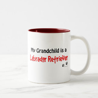 Labrador Retriever Grandchild Two-Tone Coffee Mug