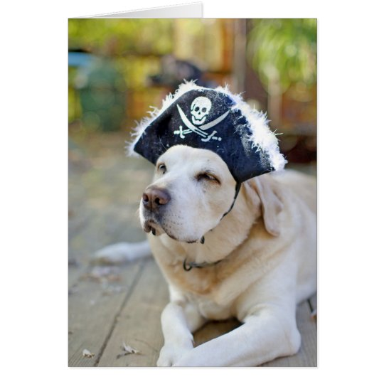 Labrador Retriever Halloween Greeting Card
