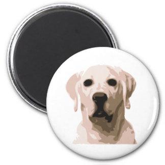 Labrador retriever hangover 2 inch round magnet