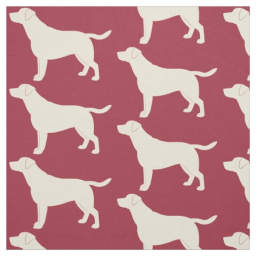 Labrador Retriever in Silhouette Fabric