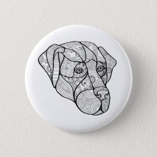 Labrador Retriever Mandala 2 Inch Round Button