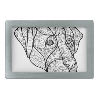 Labrador Retriever Mandala Belt Buckle