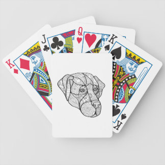Labrador Retriever Mandala Bicycle Playing Cards