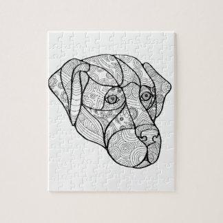 Labrador Retriever Mandala Jigsaw Puzzle