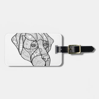 Labrador Retriever Mandala Luggage Tag