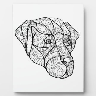 Labrador Retriever Mandala Plaque