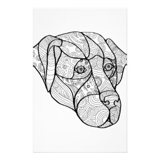 Labrador Retriever Mandala Stationery