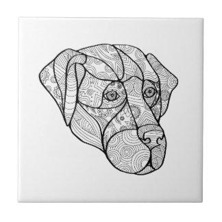 Labrador Retriever Mandala Tile