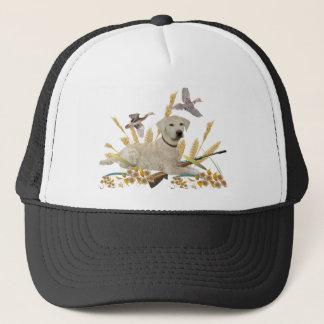Labrador Retriever My Dog Hunts Trucker Hat