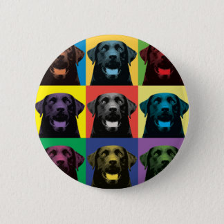 Labrador Retriever Pop-Art 2 Inch Round Button
