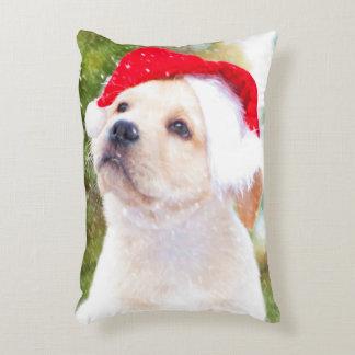Labrador Retriever Puppies Christmas Accent Pillow