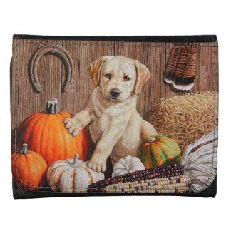 Labrador Retriever Puppy and Pumpkins Wallet