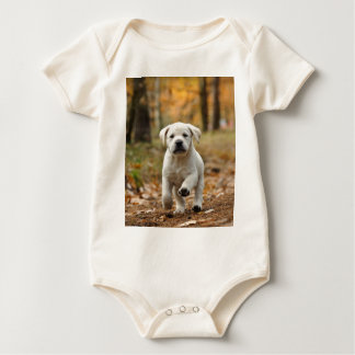 Labrador retriever puppy baby bodysuit
