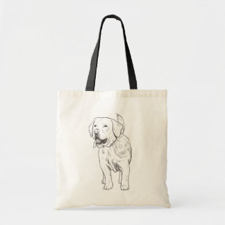 Labrador Retriever Puppy Dog Illustration Cartoon Tote Bag