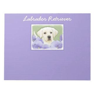 Labrador Retriever Puppy Painting Original Dog Art Notepad