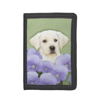 Labrador Retriever Puppy Painting Original Dog Art Trifold Wallet