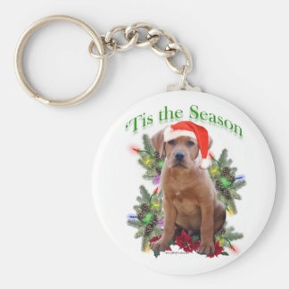 Labrador Retriever Puppy 'Tis the Season Keychain