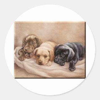 Labrador Retriever Puppy's Classic Round Sticker