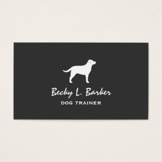Labrador Retriever Silhouette Business Card