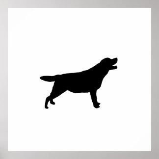 Labrador Retriever Silhouette Love Dogs Poster
