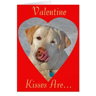 Labrador Retriever Valentine's Day Card