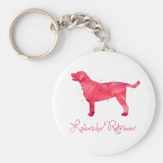 Labrador Retriever Watercolor Design Keychain
