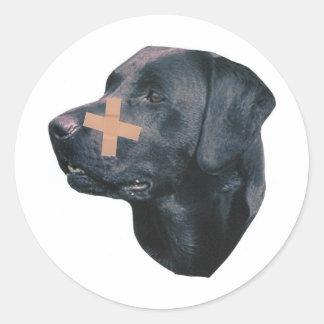 Labrador Retriever With Band-Aid Classic Round Sticker