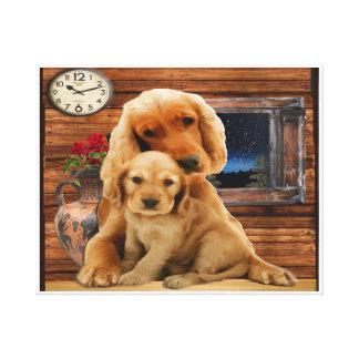 Labrador retriever wrapped canvas