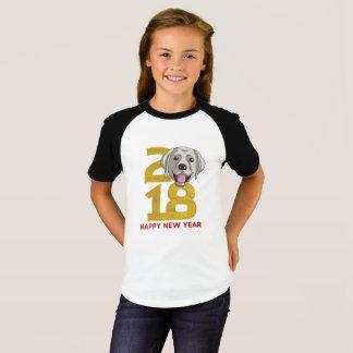 Labrador retriever Year of the Dog 2018 New Year T-Shirt
