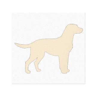 Labrador Retriever yellow color silo Canvas Print