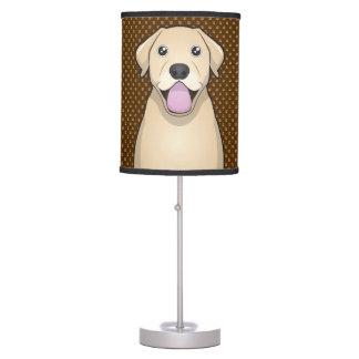 Labrador Retriever (Yellow Lab) Cartoon Paws Table Lamp
