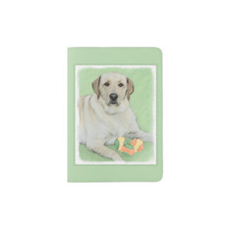 Labrador Retriever (Yellow) Passport Holder