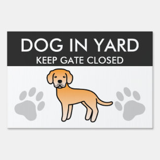 Labrador Retriever Yellow Sign